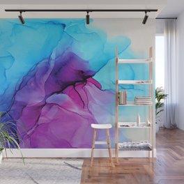 Aqua Pop - Alcohol Ink Painting Wall Mural