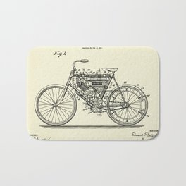 Motor Cycle-1901 Bath Mat