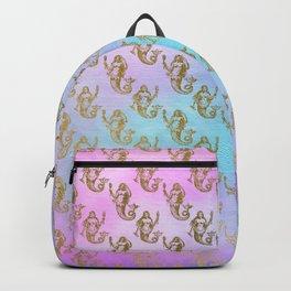Watercolor Gold Mermaid Backpack