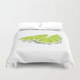 Lime in the Coconut Duvet Cover