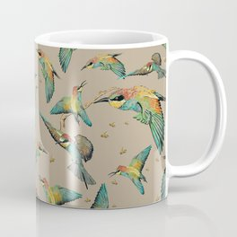 The Birds and the bees pattern on sand Coffee Mug