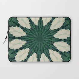 Tropical Sacramento Green and Silver Leaf Mandala Laptop Sleeve