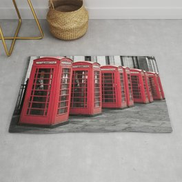 The Phone Boxes  Rug