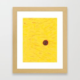 SpaceSunYellow Framed Art Print