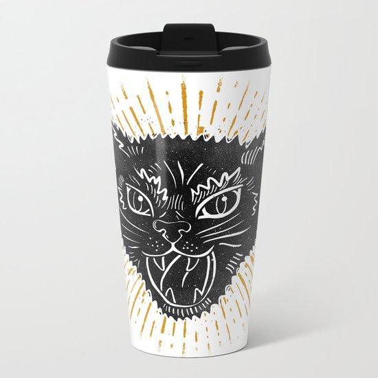 kitty attack Metal Travel Mug