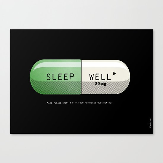 Sleep Well* Canvas Print