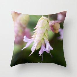 Hop Marjoram Throw Pillow