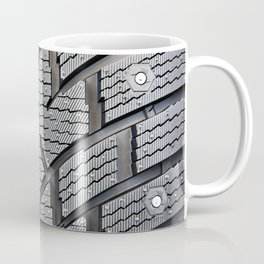 Background pattern winter stud tire Coffee Mug