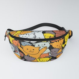cat pattern for cat lovers, baby cats , kitties pattern Fanny Pack