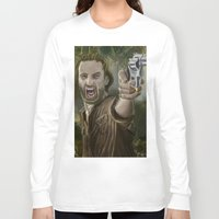 rick grimes Long Sleeve T-shirts featuring Rick Grimes by Paulo Fodra