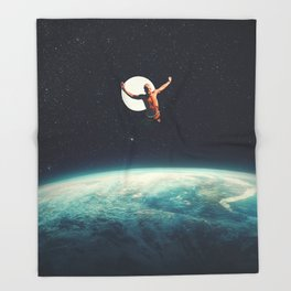 Returning to Earth with a will to Change Throw Blanket