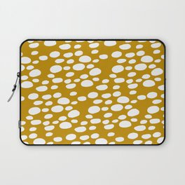 Monstera Leaf Hole Pattern - mustard yellow Laptop Sleeve