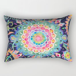 Color Celebration Mandala Rectangular Pillow