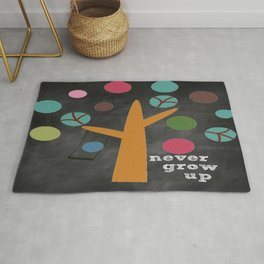 Never Grow Up Tree & Swing Kid's Room Decor Rug