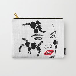 Woman in lace Carry-All Pouch