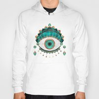 Hoodies featuring Teal Eye by Elisabeth Fredriksson