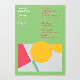 Terrasse Electronique - July 1/2 Canvas Print