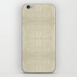 """Nude Burlap Texture"" iPhone Skin"