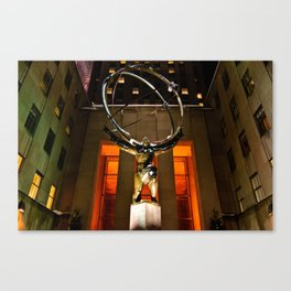 Atlas Statue  Canvas Print