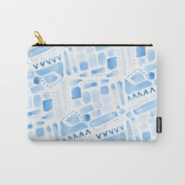 Watercolor Pattern Play in Blue Carry-All Pouch