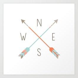 Arrow Compass Art Print