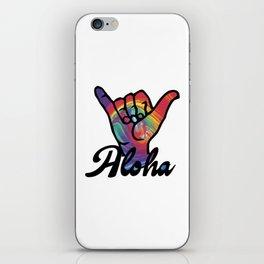 Shaka Hands, Tie Dye, Aloha sticker, Shaka Hand sticker iPhone Skin