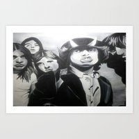 acdc Art Prints featuring ACDC by MELANIE GERVAIS ART
