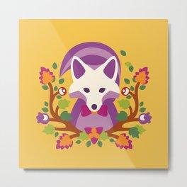 Baltimore Woods Fox - Fall Colors Metal Print
