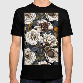 Dream garden white, yellow and gray T-shirt
