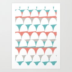 Shroom stripes Art Print