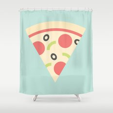 #85 Pizza Shower Curtain