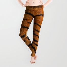 Faux Siberian Tiger Skin Design Leggings