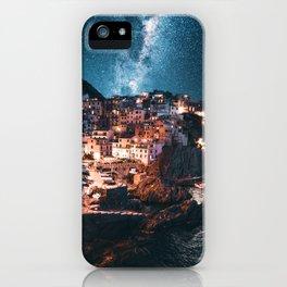 manarola at night iPhone Case