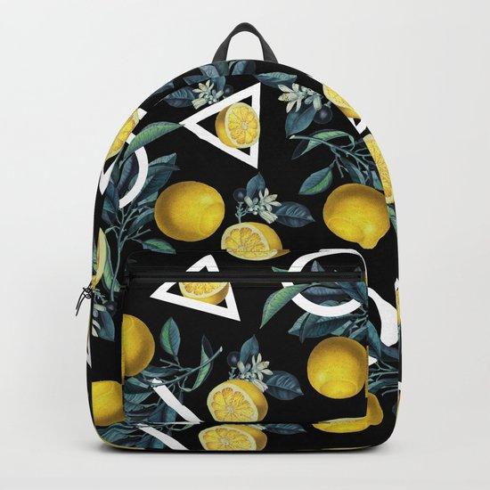 Geometric and Lemon pattern II Backpack