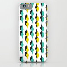 turquoise and yellow petal lines  iPhone 6s Slim Case
