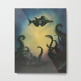 20,000 Leagues Under The Sea - Jules Verne Metal Print