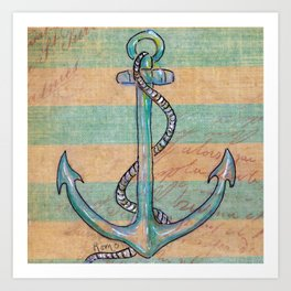 Safe Harbor - Anchor Art Print