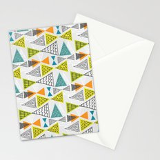 Geometric Mid Century Modern  Triangles Stationery Cards