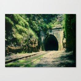 Train Tunnel Entrance Canvas Print