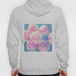 Pink And Blue Oranges Abstract Fruit Splash Hoody