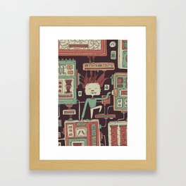 Everything you always wanted to know about mobile communication but where afraid to ask Framed Art Print