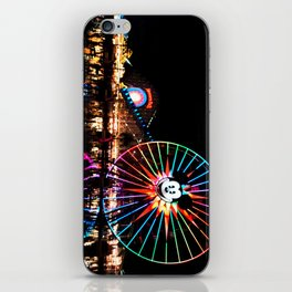 Paradise Pier at Night iPhone Skin
