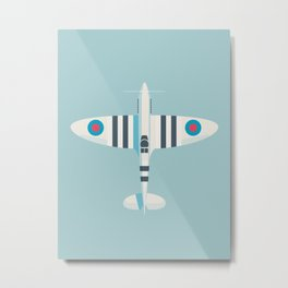 Supermarine Spitfire WWII RAF Royal Air Force Fighter Aircraft - Stripe Sky Metal Print