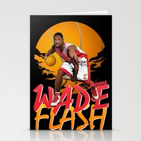 nba Stationery Cards featuring NBA Legends: Dwyane Wade by Akyanyme