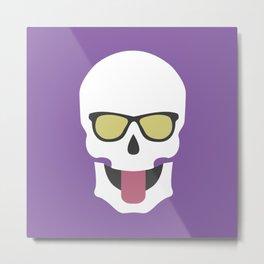 Skull with sunglasses on Metal Print