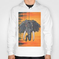 dumbo Hoodies featuring Not so Dumbo (Elephant) by Kai Monster