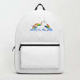 I Don't Believe In Human Introvert Unicorn Magical Creatures Magic Fantasy Rainbow Gift Backpack