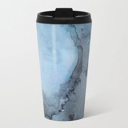 Black and Blue Vortex Ink Painting Travel Mug