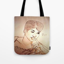Aretha Franklin by Double R Tote Bag