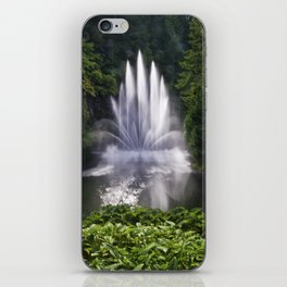 Butchart Garden Fountain iPhone Skin